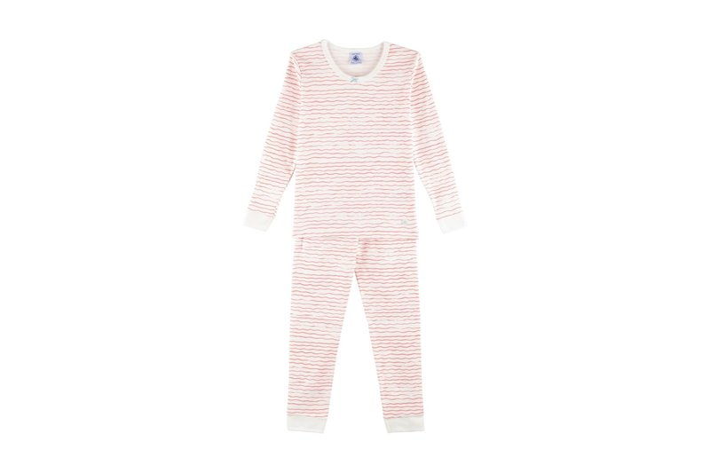 Petit bateau Petit Bateau - Wavy Print Snugfit Cotton Pyjamas