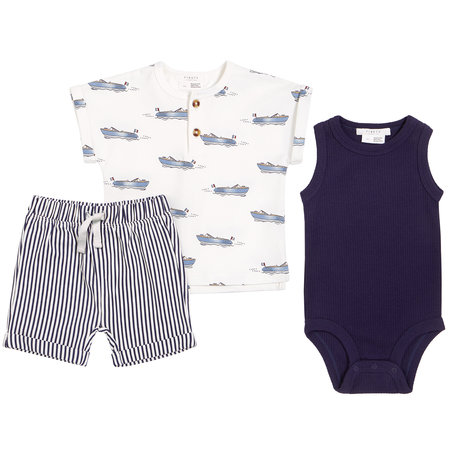 Petit lem Petit Lem - 3 pcs Top Shirt Short Knit