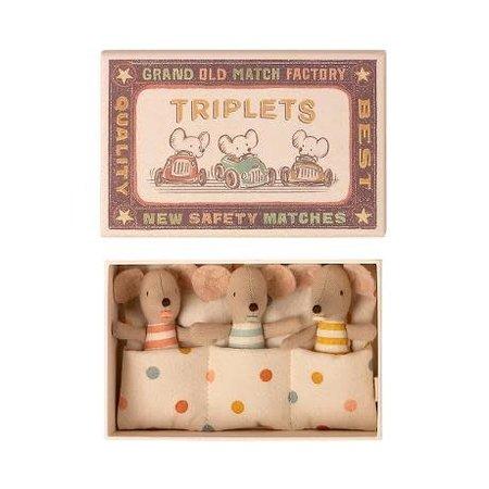 Maileg - Triplet bébés souris boite d'allumettes