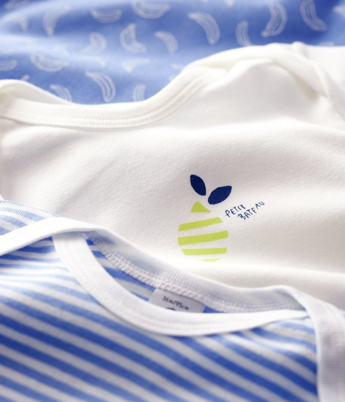 Petit bateau Petit Bateau - Short-Sleeved Bodysuit - 3-Pack