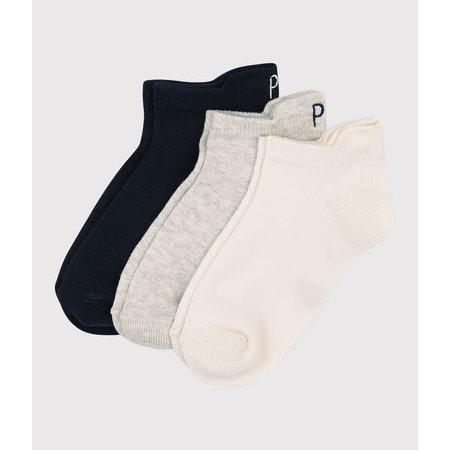 Petit bateau Petit Bateau -  Unisex Ankle Socks  3-Pack