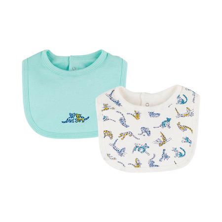 Petit bateau Petit Bateau - Organic Cotton Baby Bibs - 2-Pack