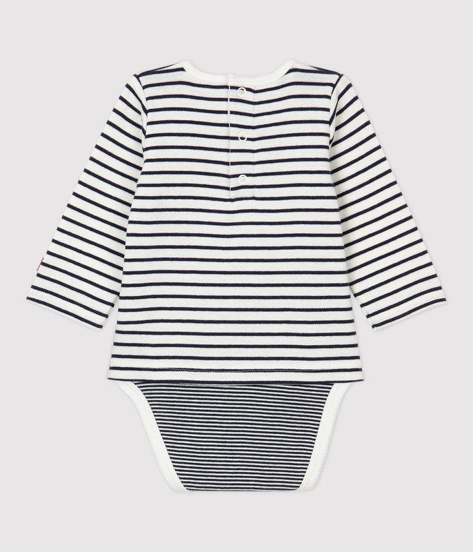 Petit bateau Petit Bateau - Sailor Striped Bodysuit