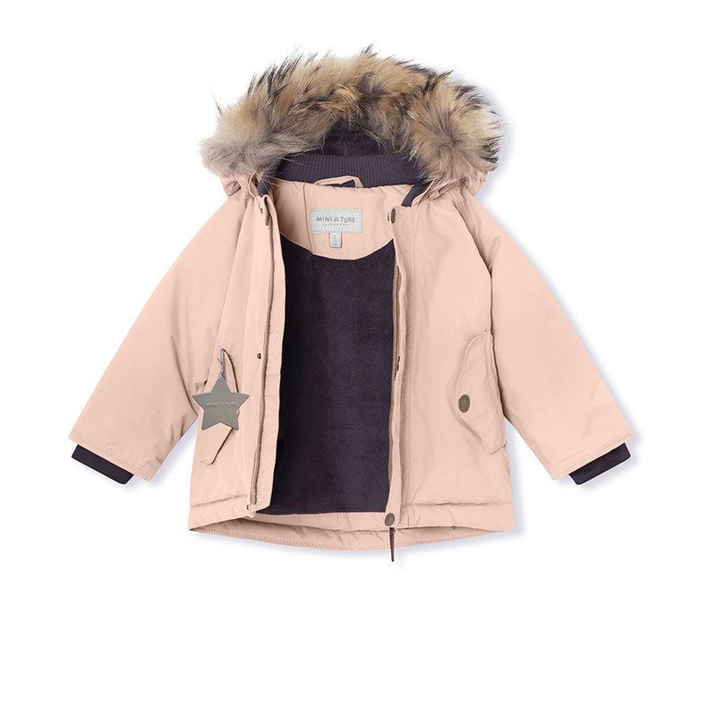 Mini A Ture Mini A Ture - Wally fur jacket + Witte Pants