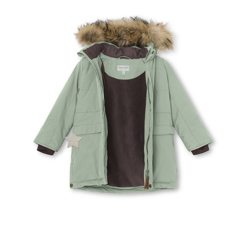 Mini A Ture Mini A Ture - Vinna fur jacket + Witte Pants