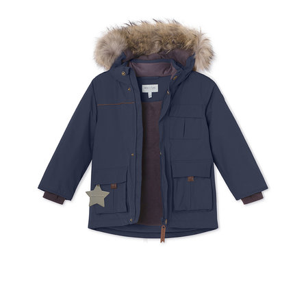 Mini A Ture Mini A Ture - Manteau d'hiver Kastor + Salopette Witte