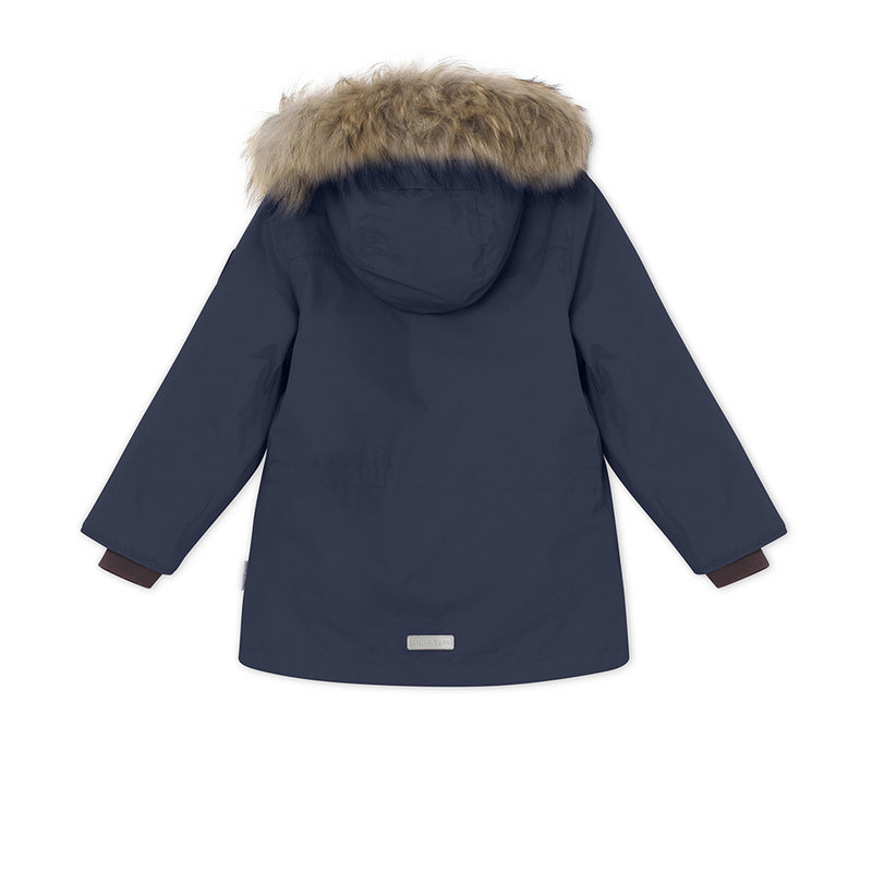 Mini A Ture Mini A Ture - Kastor fur jacket + Witte Pants