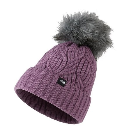 North Face - Bonnet Youth Oh-Mega Fur Pom