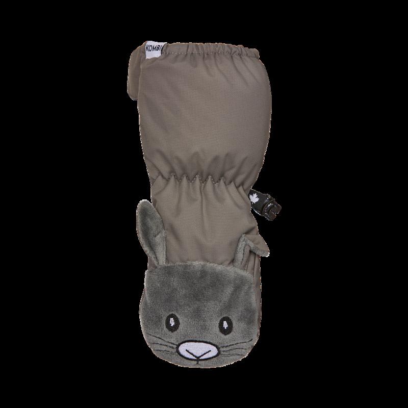 Kombi Kombi - Sherpa Animal Full-Zipped Mittens - Infants