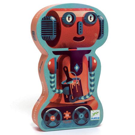 Djeco - Puzzle silouhette/Bob le robot