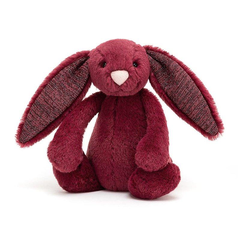 Jellycat Jellycat - Bashful Sparkly Cassis Bunny Small