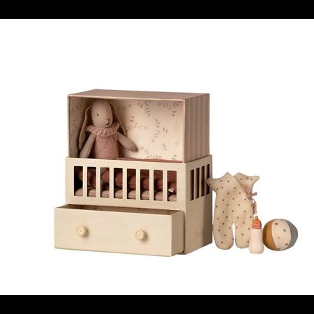 Maileg - Chambre de bébé + Micro Lapin