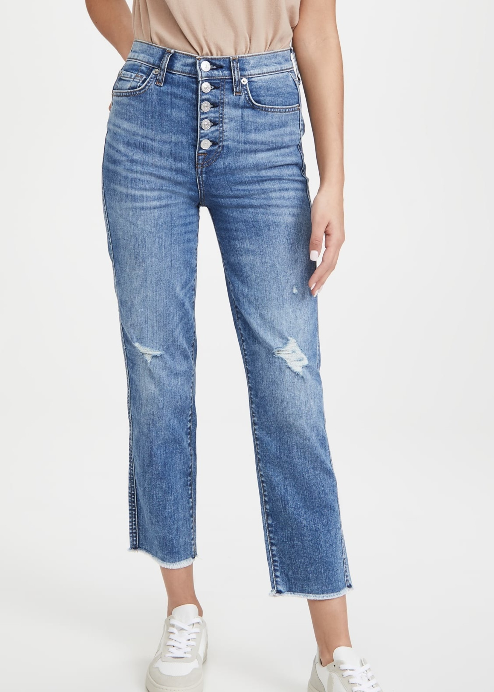 7 For All Mankind 7 For All Mankind Cropped Straight Leg Jeans