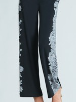 Clara Sunwoo Lace Trim Print Wide Leg Pocket Pant