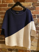 Marble Navy & White Sweater