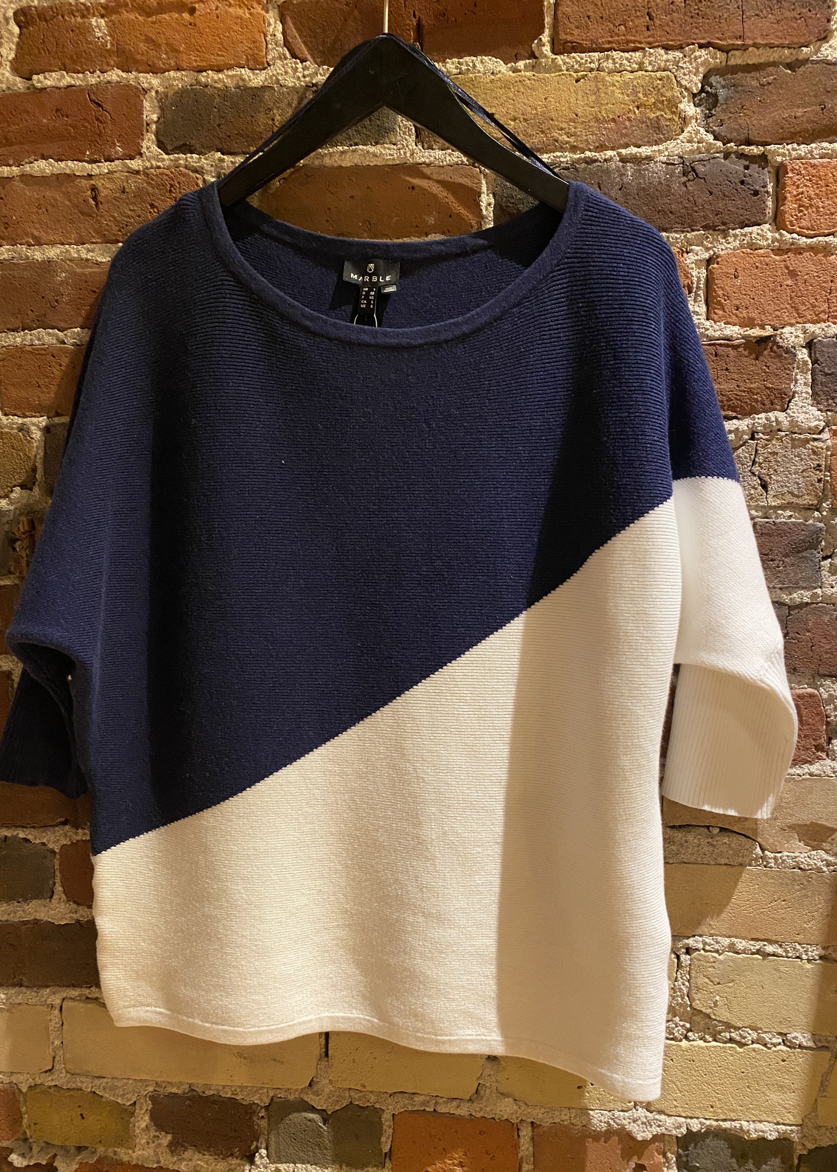 Marble Marble Navy & White Sweater