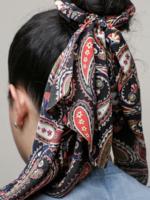 Ellison Paisley Hair Scrunchie