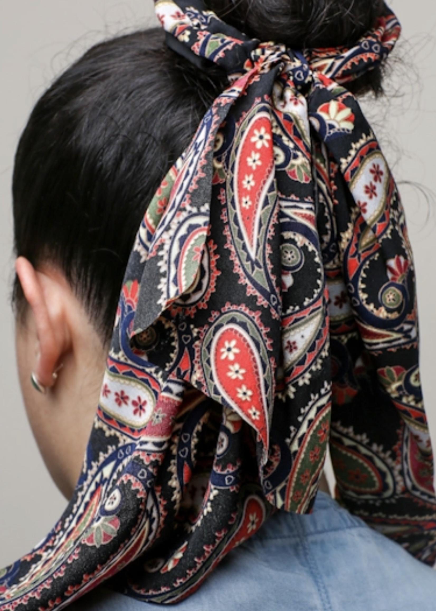 Ellison Ellison Paisley Hair Scrunchie
