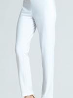 Clara Sunwoo White Knit Straight Leg Pant