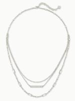 Kendra Scott Addison Multi Strand Necklace Silver