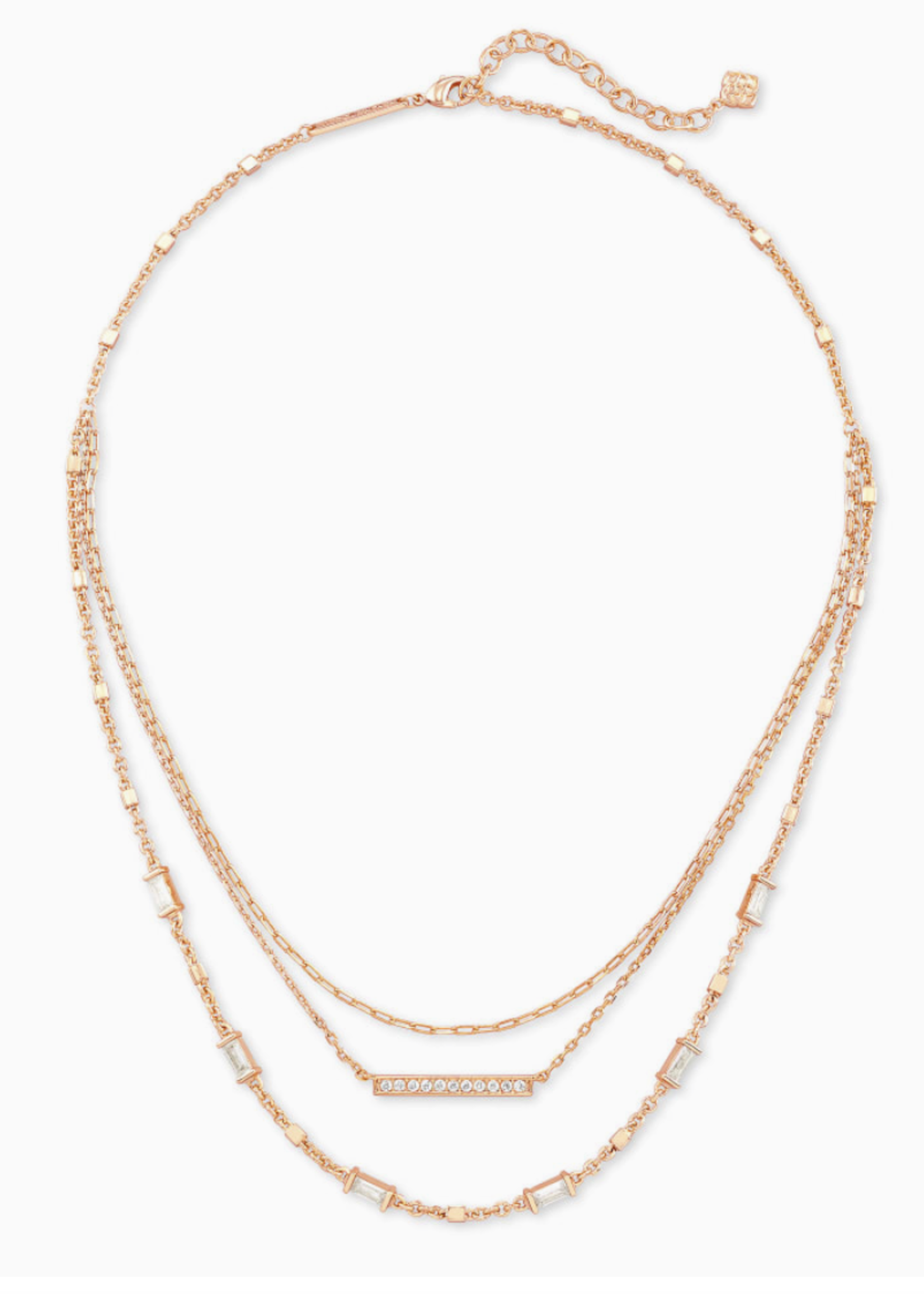 Kendra Scott Kendra Scott  Addison Multi Strand Necklace Rose Gold