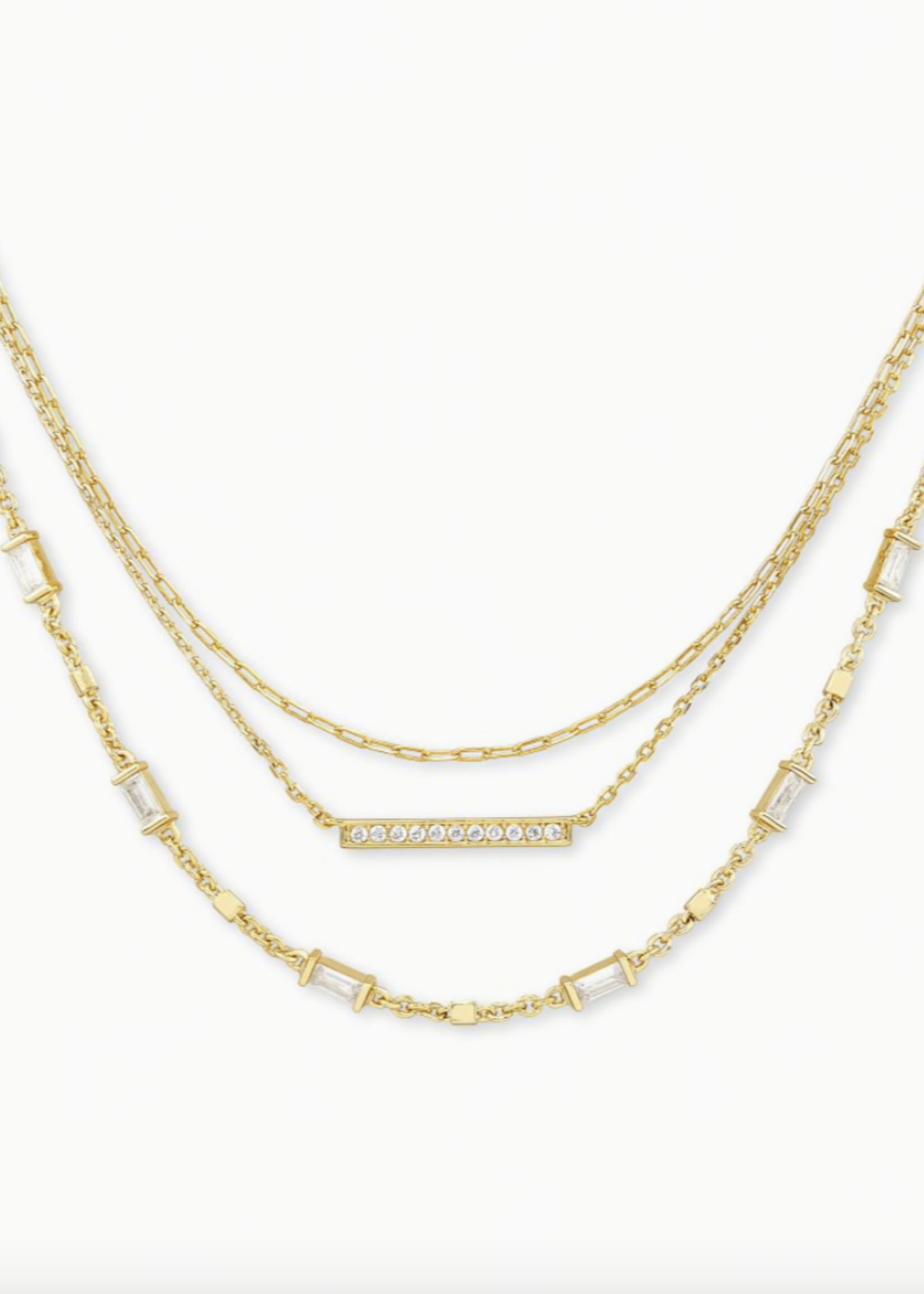 Kendra Scott Kendra Scott Addison Multi Strand Necklace Gold