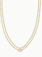 Kendra Scott Emile Multi Strand Necklace Rose