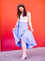 Scotch & Soda Clean Crispy Cotton Wrap Skirt