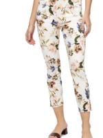 Jen7 Cropped Skinny Floral Jeans