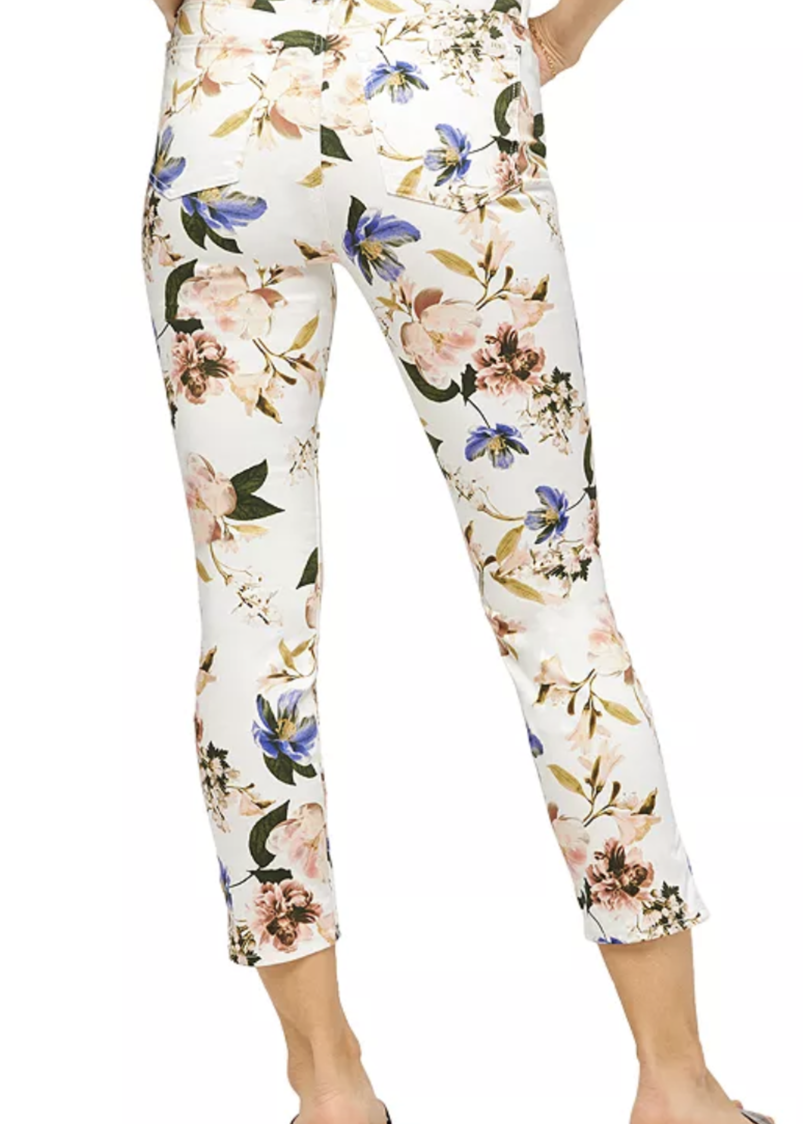 Jen7 Jen7 Cropped Skinny Floral Jeans