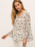 Mystree Ivory Floral Blouse