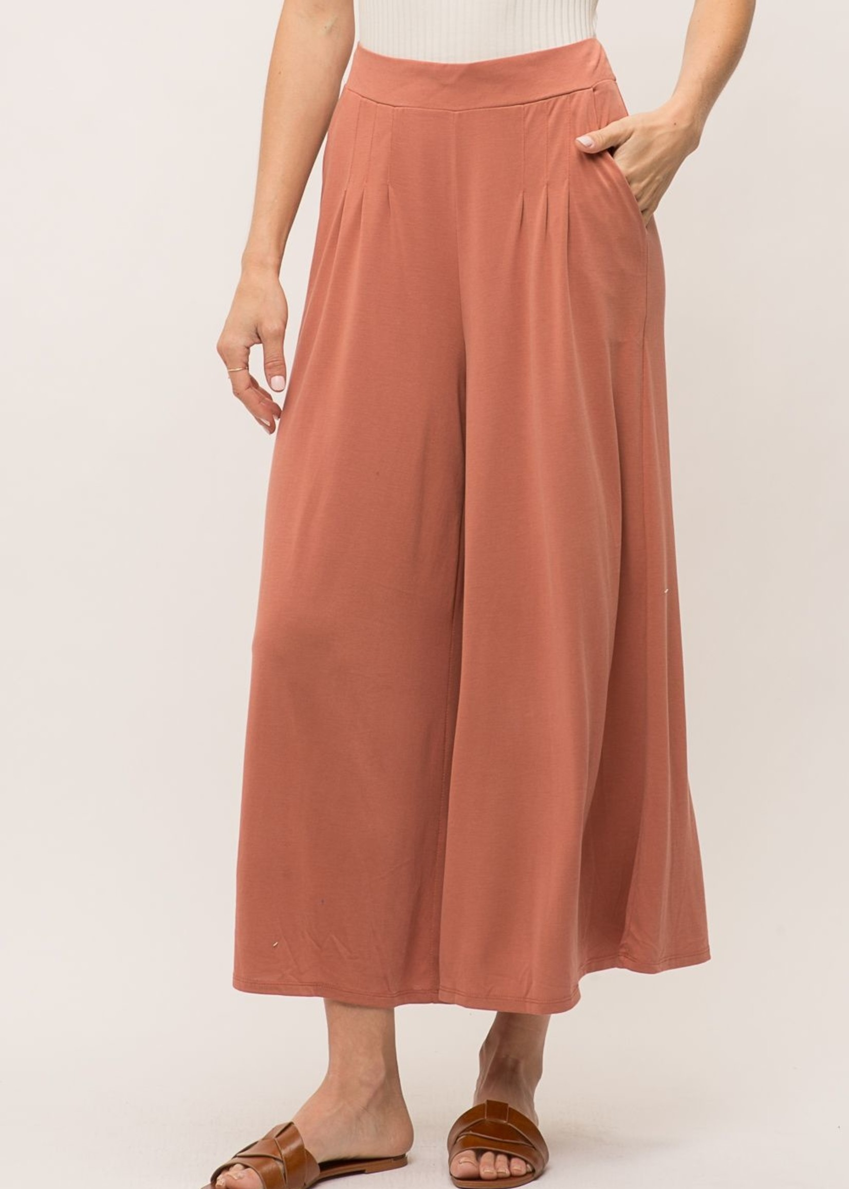 Mystree Mystree Apricot Wide-Leg Pants