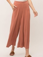 Mystree Apricot Wide-Leg Pants