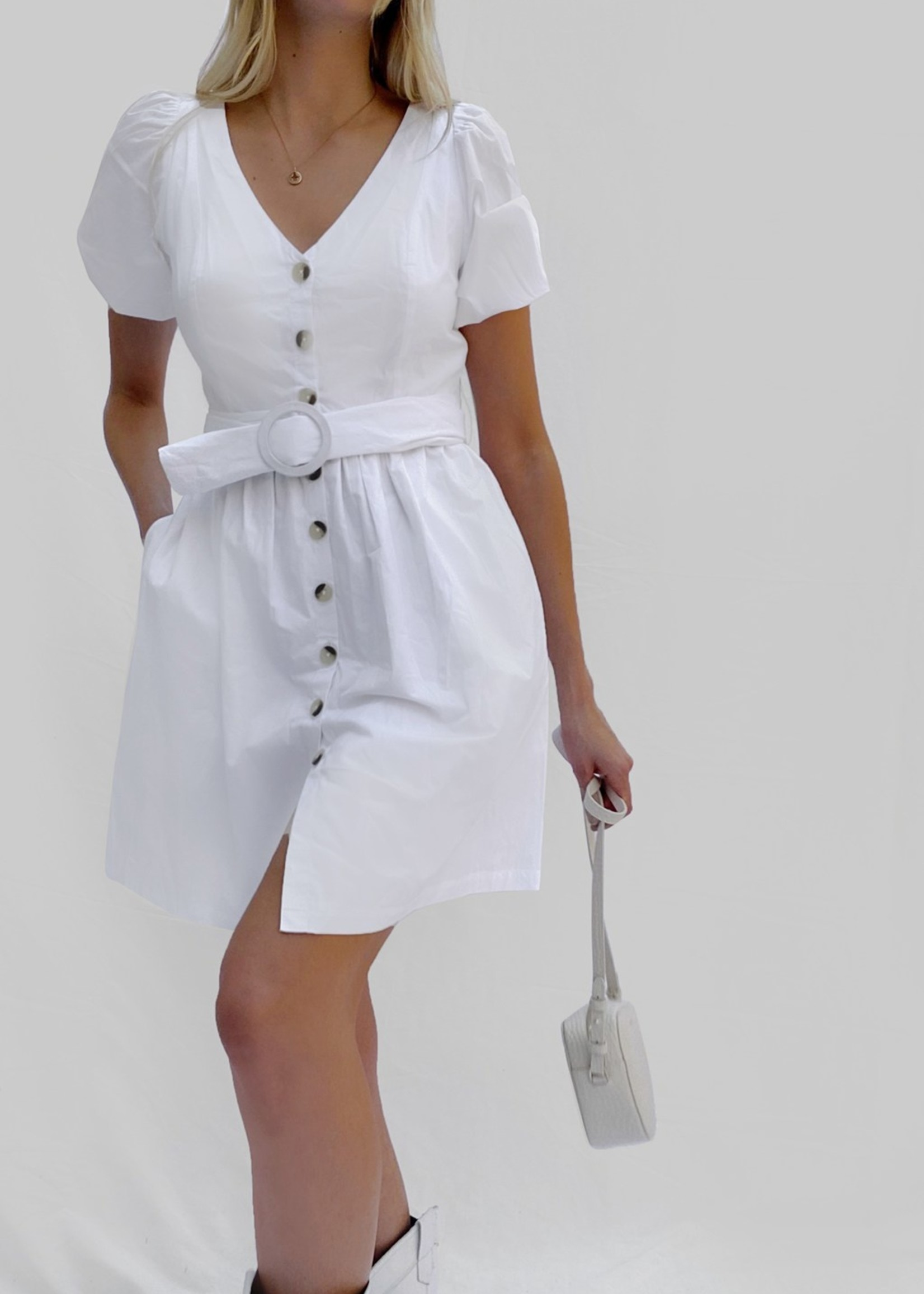 French Connection French Connection Besima Poplin Belted Dress