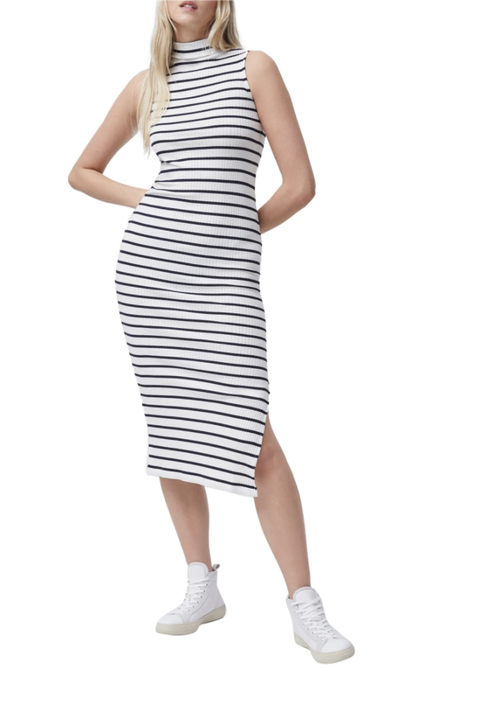 French Connection French Connection Tommy Rib High Neck Sleeveless Dress