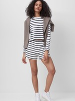 French Connection Tommy Rib Long Sleeve Striped Crop Top