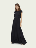 Scotch & Soda Drapey Scalloped Edge Maxi