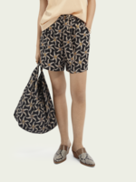 Scotch & Soda Printed Waist Tie Shorts