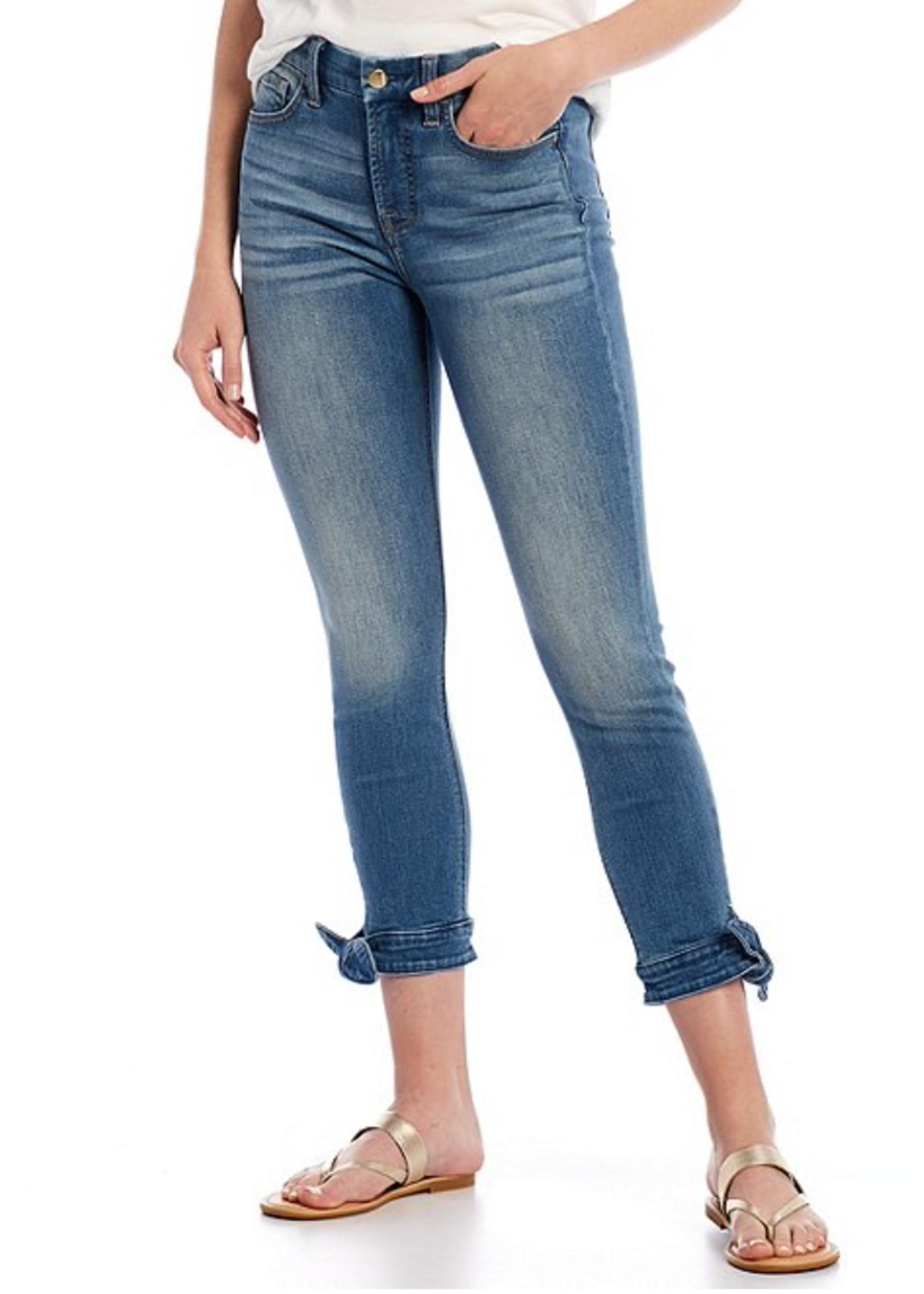 Jen7 Jen7 Denim Bow Hem Jeans