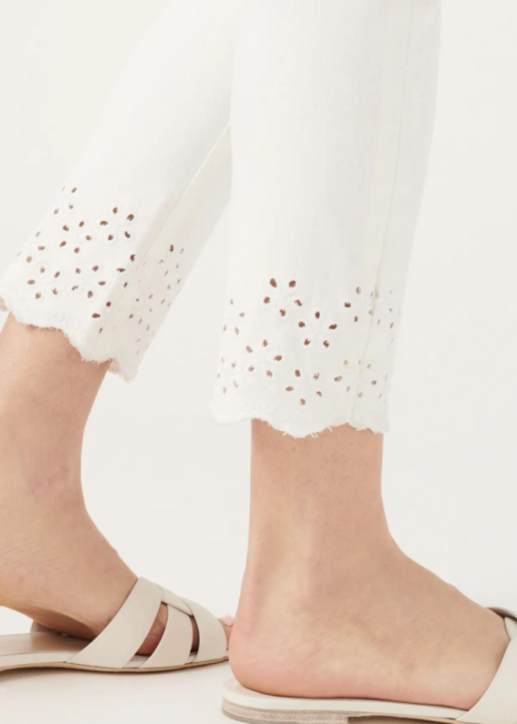 Jen7 Jen7 Ankle Skinny Eyelet White
