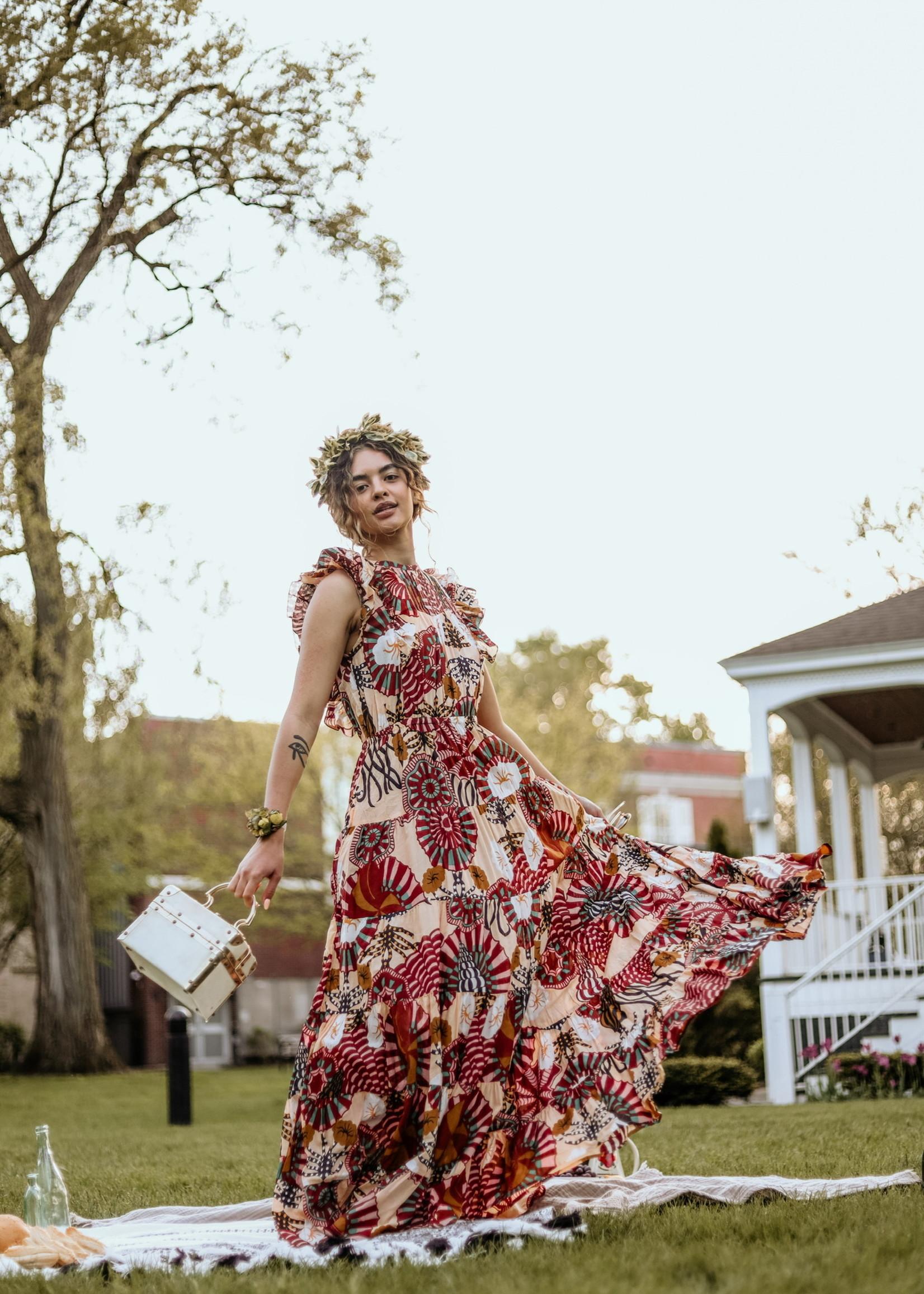 Scotch & Soda Scotch & Soda Printed Cotton Blend Summer Dress