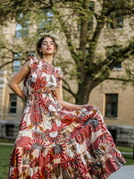 Scotch & Soda Printed Cotton Blend Summer Dress