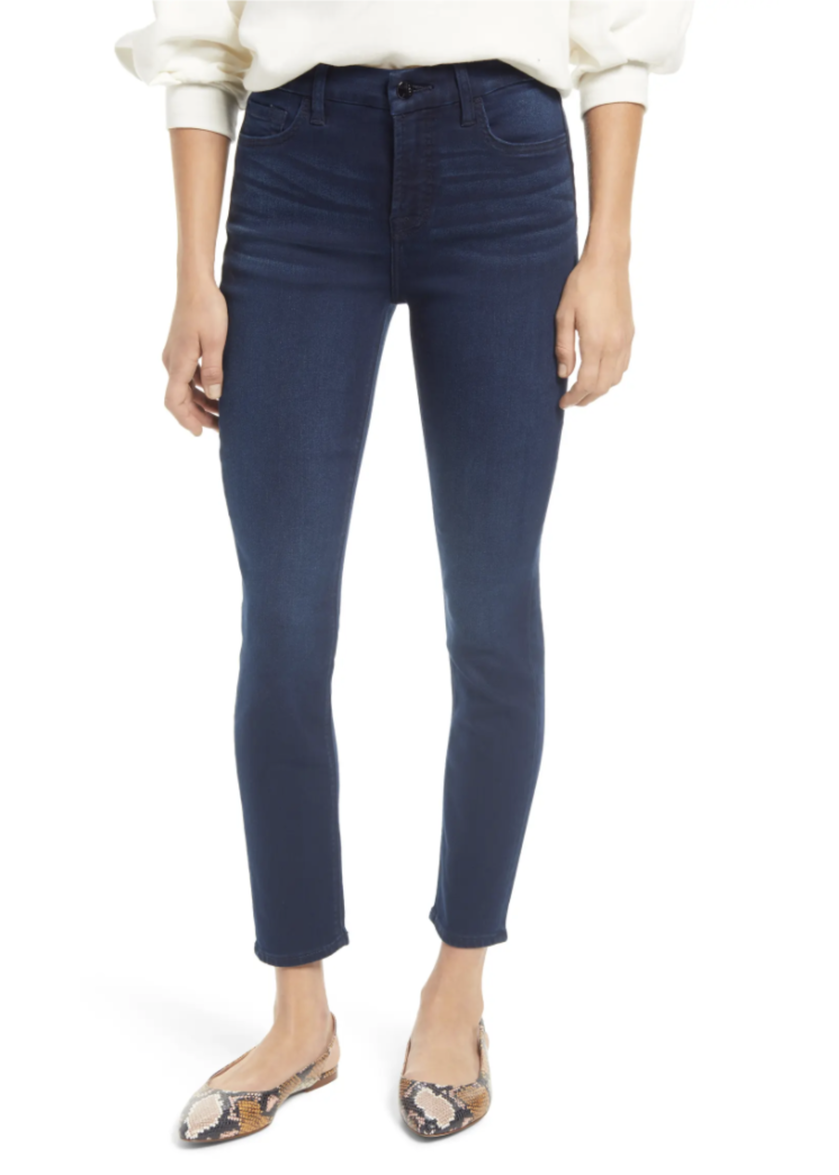 Jen7 Jen7 Classic Midnight Ankle Skinny Jeans
