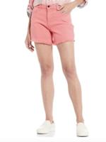 Jen7 Pink Short With Frayed Hem