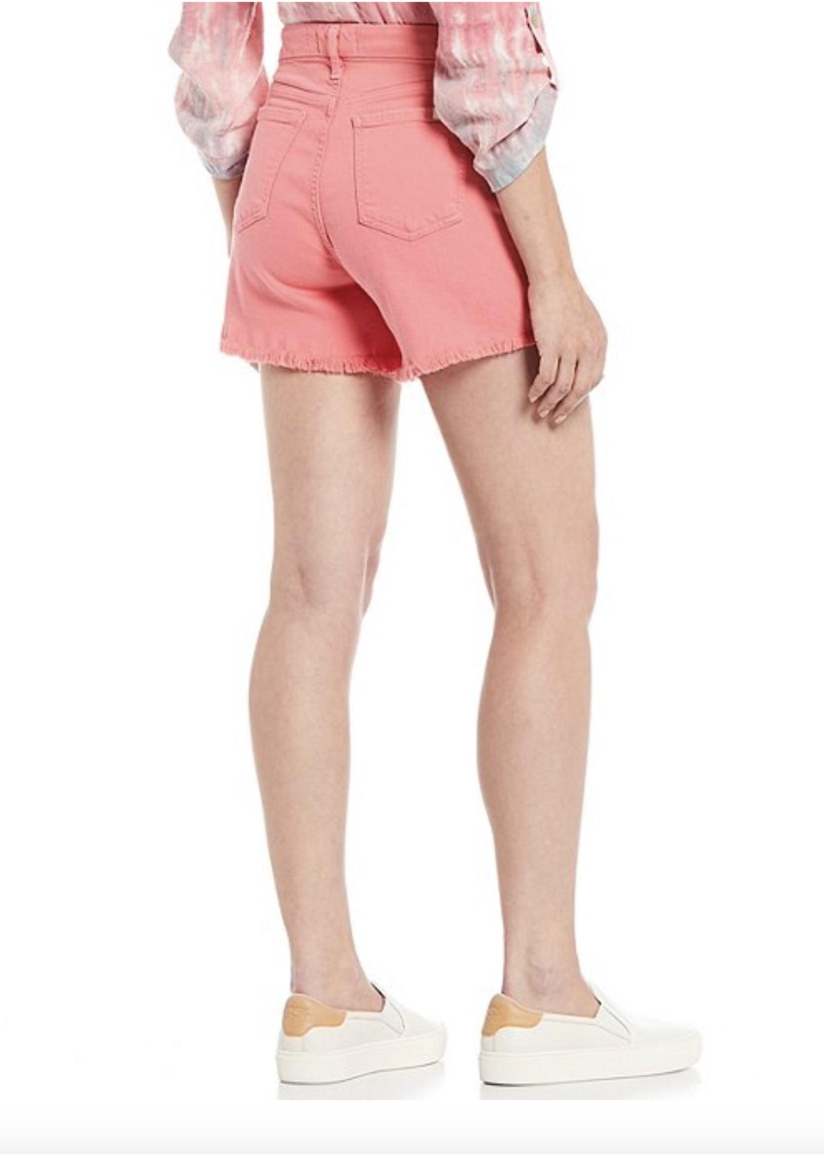 Jen7 Jen7 Pink Short With Frayed Hem