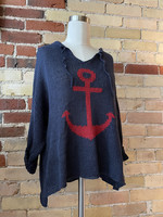 Wooden Ships Anchor Cotton Sweater