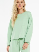 Z Supply Miki Terry Long Sleeve Top