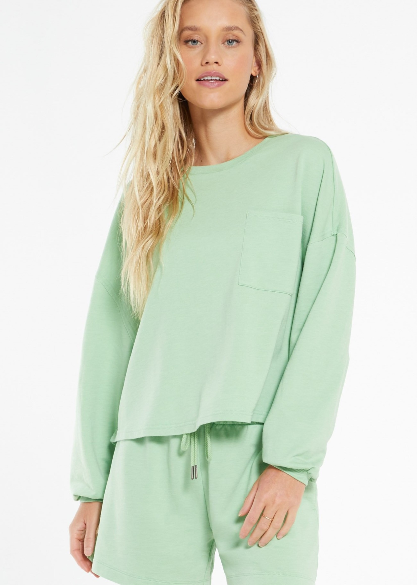 Z Supply Z Supply Miki Terry Long Sleeve Top