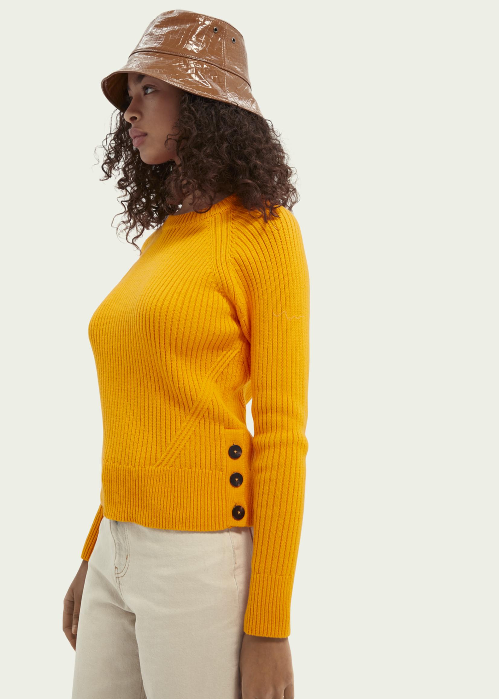 Scotch & Soda Scotch & Soda Ribbed Knit Organic Cotton-Blend Sweater