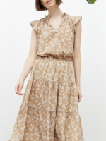 Grade & Gather Floral Print Ruffled Dress